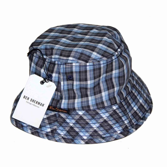 Mens Ben Sherman Plaid Bucket Hat Size S M be6a1be5a18